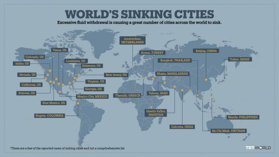 global map of sinking cities